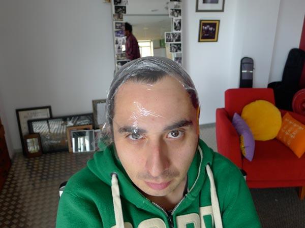 Berto y las pruebas de maquillaje