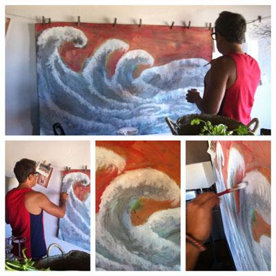 Pintura a mares